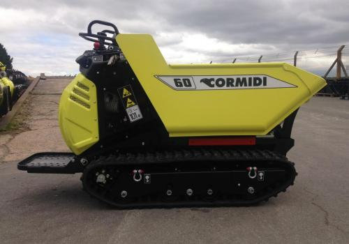 Cormidi C6.60DHE Tracked Dumper - 600kg capacity, 690mm wide, high tip