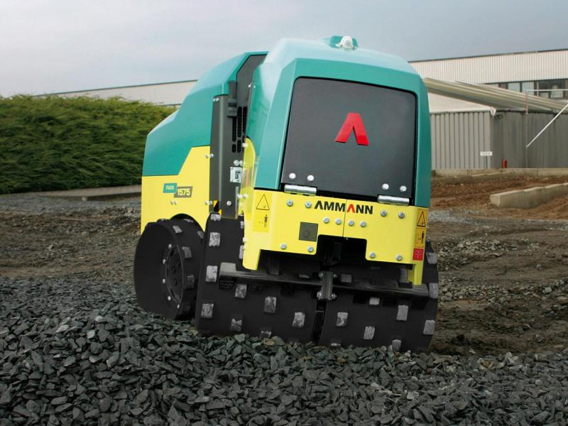 Ammann Rammax ARR 1575 Articulated Trench Roller - 680/850 wide drums (bolt on/off drum extensions)